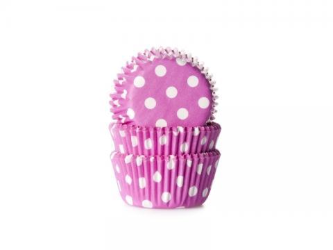 Mini-muffinsform, polkadot rosa
