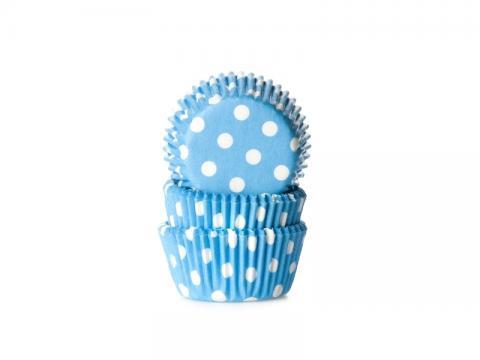 Mini-muffinsform, polkadot blå