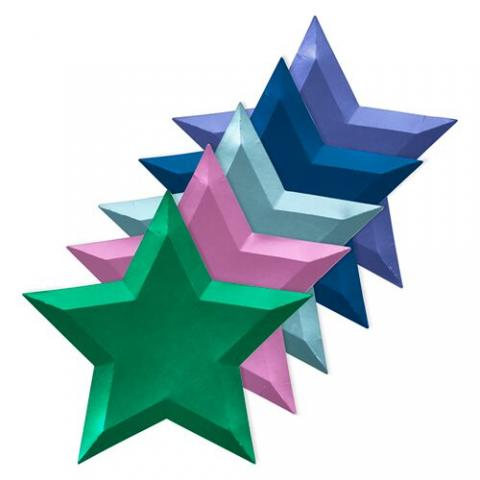 Jewel Foil stjärnformade tallrikar