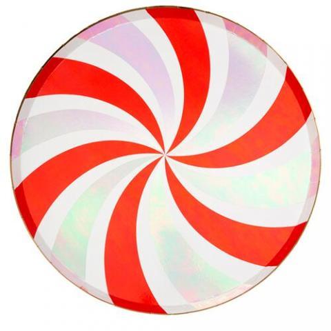 Peppermint swirl stora tallrikar