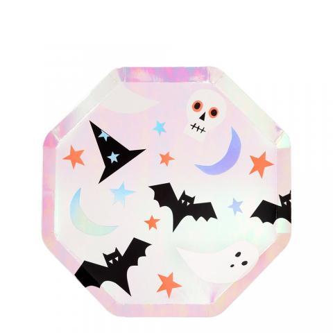 Pink Icon Halloween tallrikar