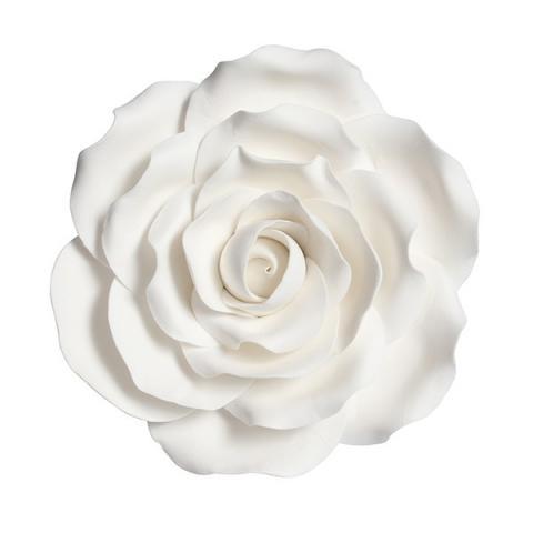 Tårtdekoration, vit ros