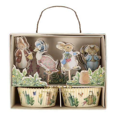 Muffins dekorationsset, Peter Rabbit & vänner