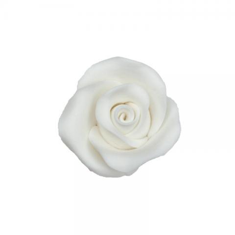 Ätbar dekoration, vita rosor 10st