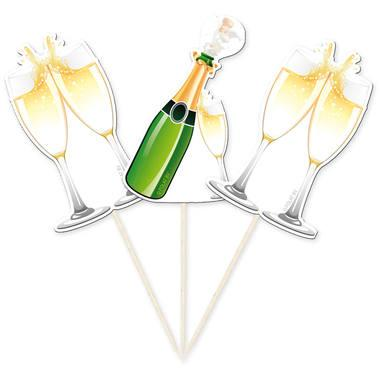 Champagne- cocktailstickor, 10st