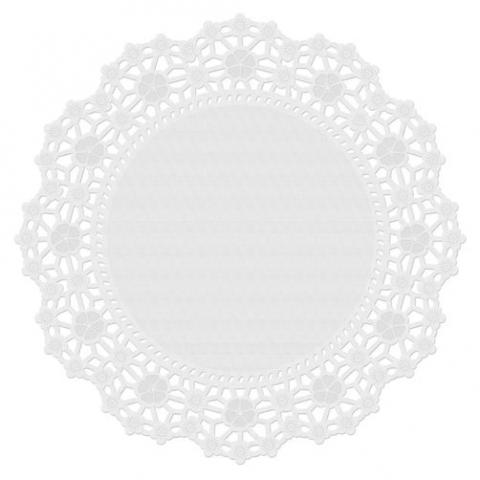 Wilton tårtpapper, vit 25cm