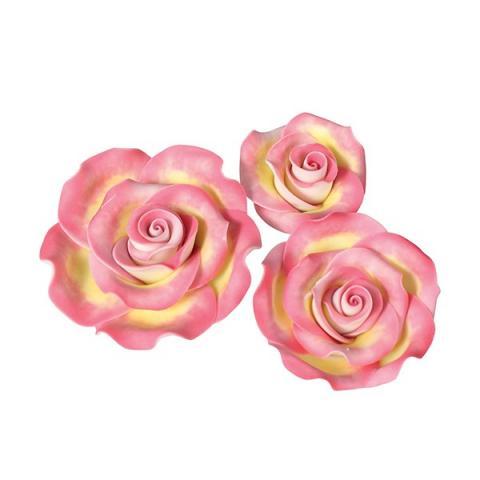 Ätbar dekoration, rosa-guld rosor
