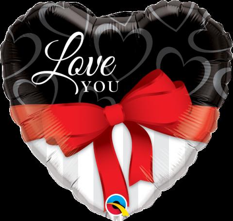 Folieballong, Love you red ribbon