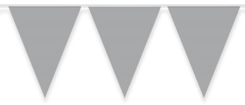 Vimplar, silver 10m