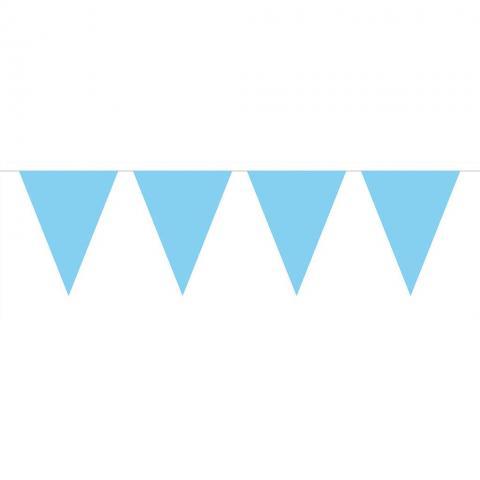 Flaggvimpel, ljusblå 10m