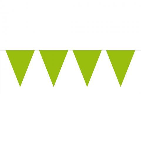Flaggvimpel, limegrön 10m