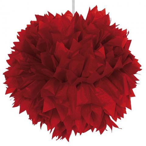 Pompom, röd 30cm