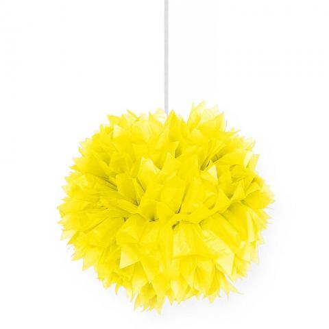 Pompom, gul 30cm