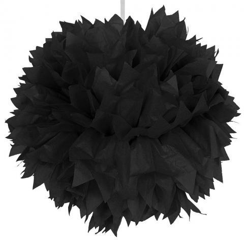 Pompom, svart 30cm