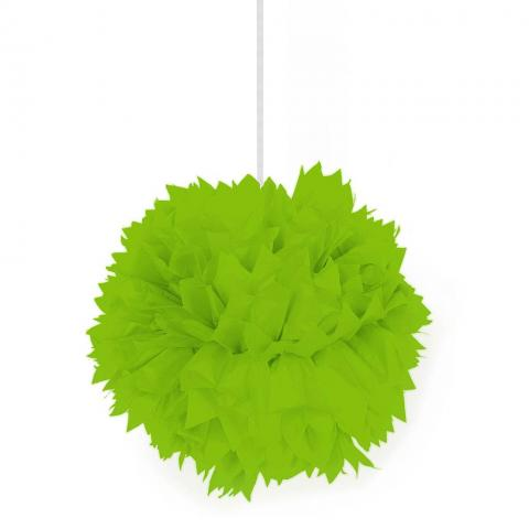Pompom, limegrön 30cm