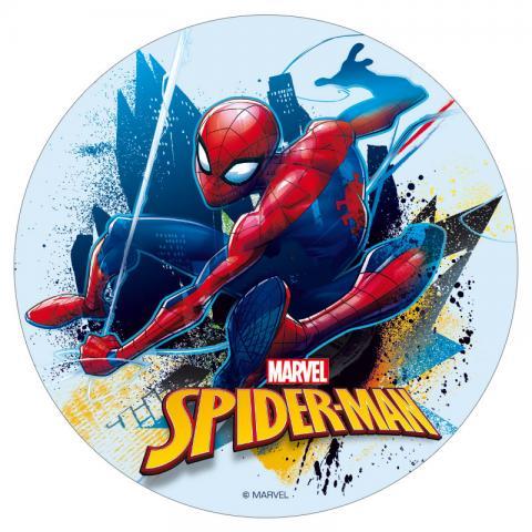 Tårtbild av sockerpasta, Spiderman