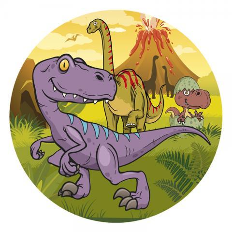 Tårtbild av sockerpasta, Dinosaurus 20cm