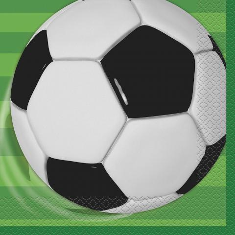 Fotboll stora servetter