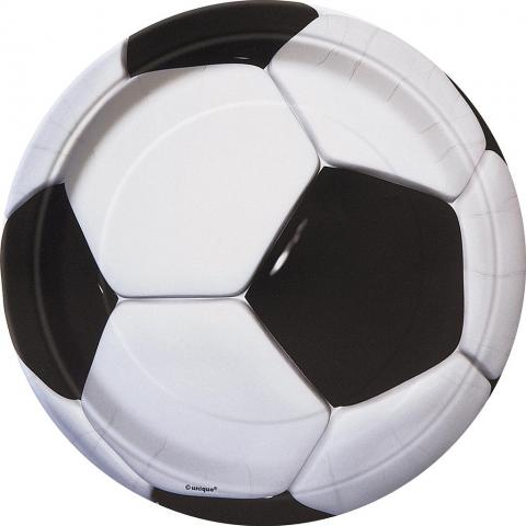 Fotboll stora tallrikar