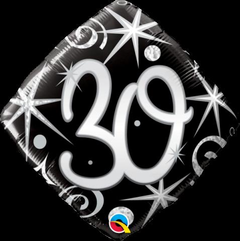 Folieballong, elegant sparkles 30