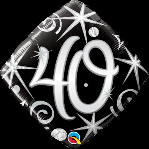 Folieballong, elegant sparkles 40