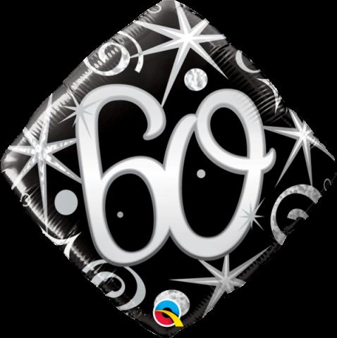 Folieballong, elegant sparkles 60