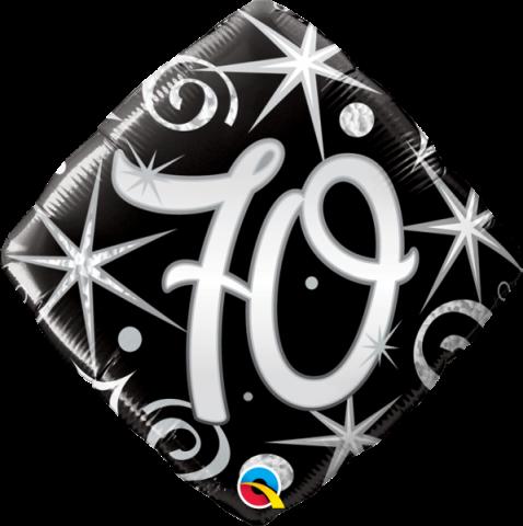Folieballong, elegant sparkles 70