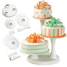 Wiltons 3-våningars tårtställning, vit