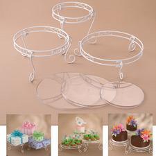Wilton tårtställning, 3 våningar, vit
