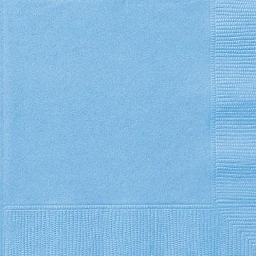 Små servetter, ljusblå