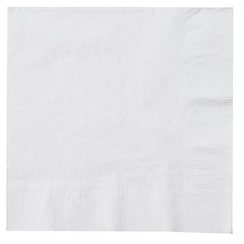 Små servetter, vit