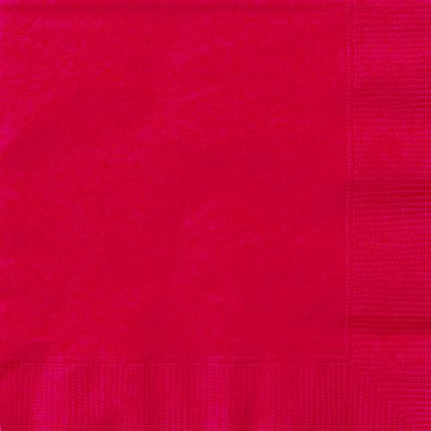 Små servetter, röda