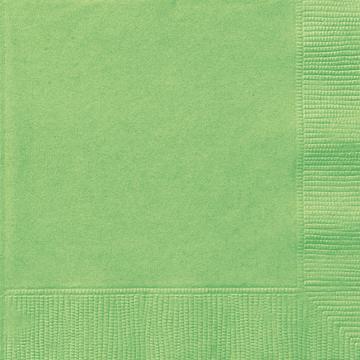 Små servetter, limegrön