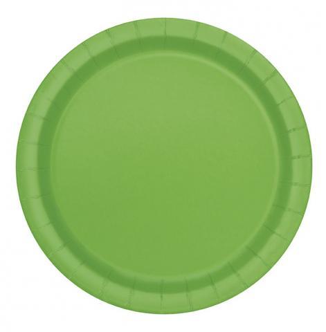 Stora tallrikar, limegrön