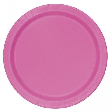 Små tallrikar, rosa