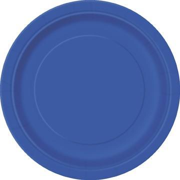 Stora tallrikar, blå