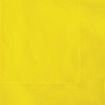 Stora servetter, gul