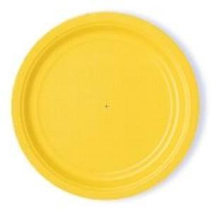 Stora tallrikar, gul
