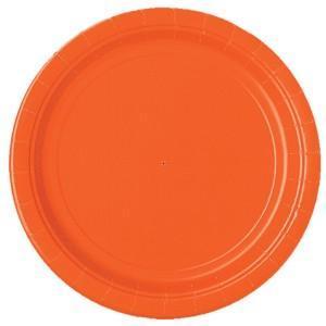 Stora tallrikar, orange