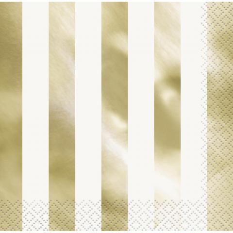 Stora servetter,  guld randiga