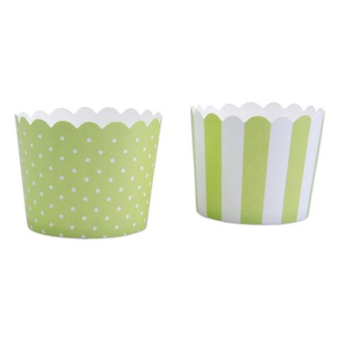 Minimuffinsform-kopp, ljusgrön
