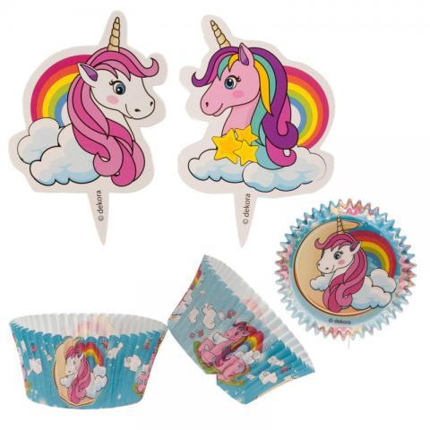 Muffins dekorationsset, Unicorn