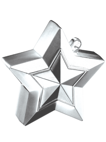 Ballongtyngd, stjärna 150g silver