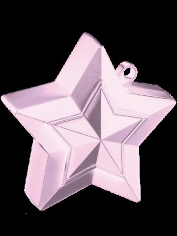 Ballongtyngd, stjärna 150g ljusrosa