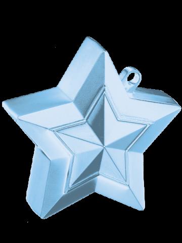 Ballongtyngd, stjärna 150g ljusblå