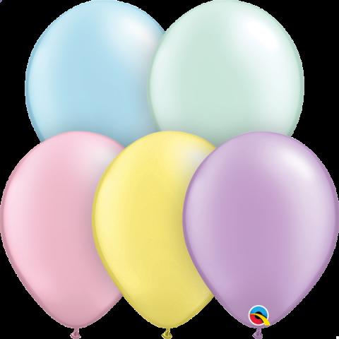 "Gummiballonger 25st, pastels mix 11"""