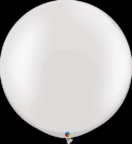 Gummiballonger Pärlemo-vit 2st, 76cm