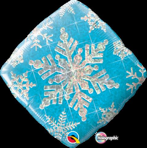Foliopallo, Snowflake sparkles blue
