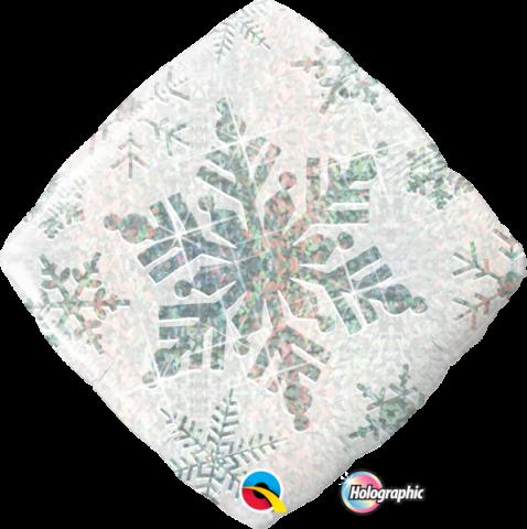 Folieballong, Snowflake sparkles white