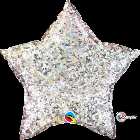 Folieballong, jewel silver star